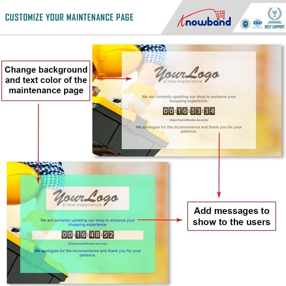 module - Page Customization - Knowband - Maintenance Page Customizer - 4