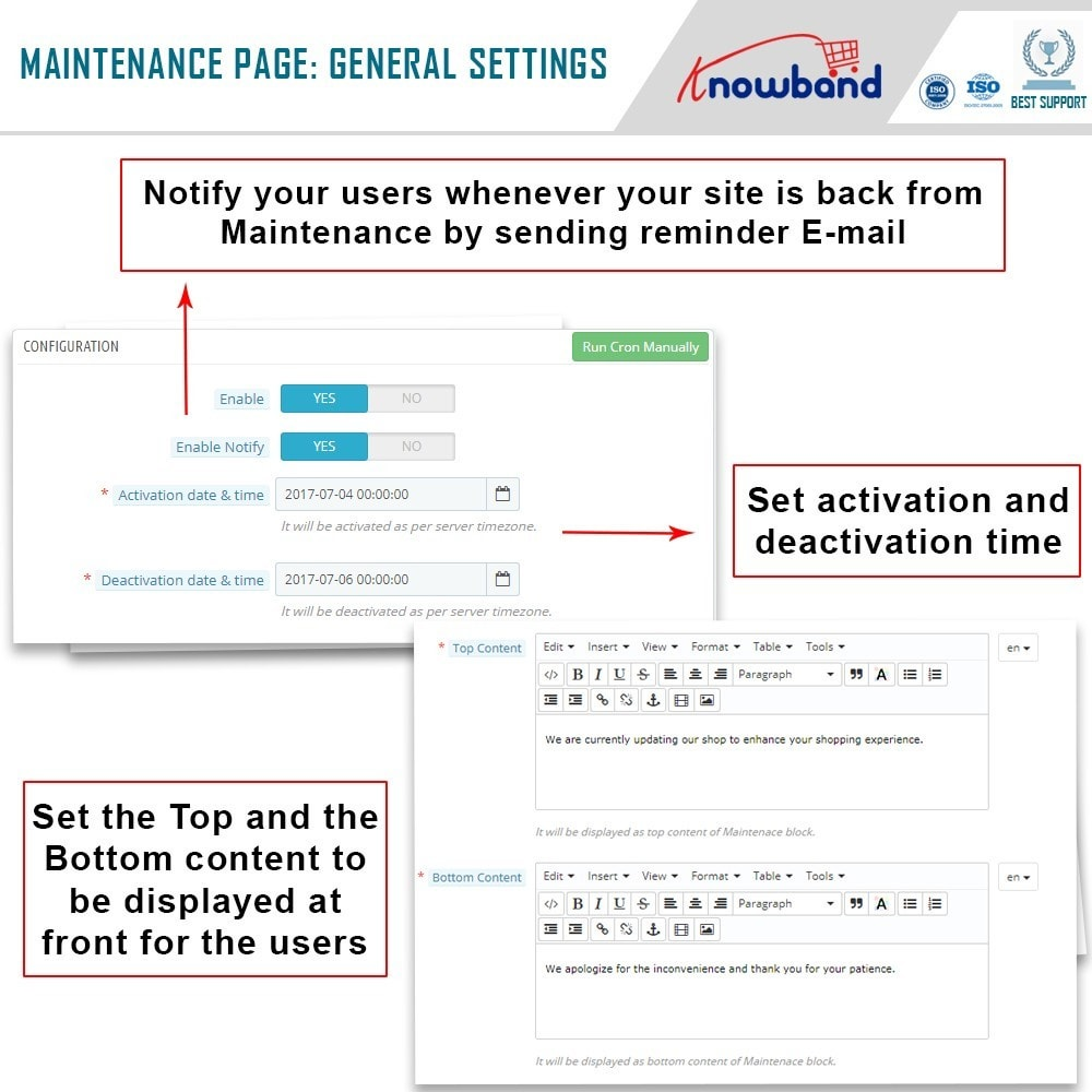 module - Page Customization - Knowband - Maintenance Page Customizer - 5