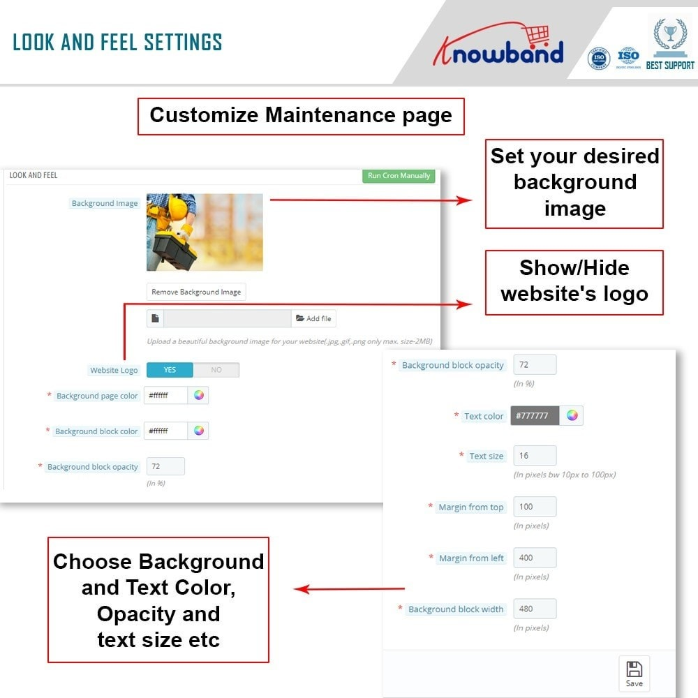 module - Page Customization - Knowband - Maintenance Page Customizer - 7