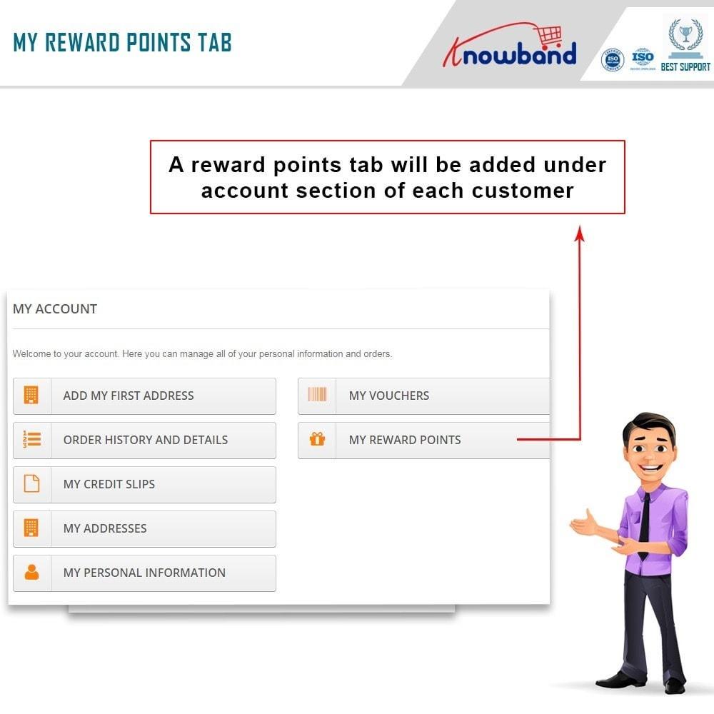 module - Referral & Loyalty Programs - Knowband - Reward points - 2