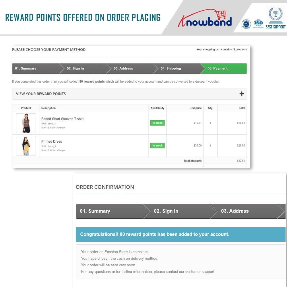module - Lojalność & Rekomendowanie - Knowband - Reward points - 3