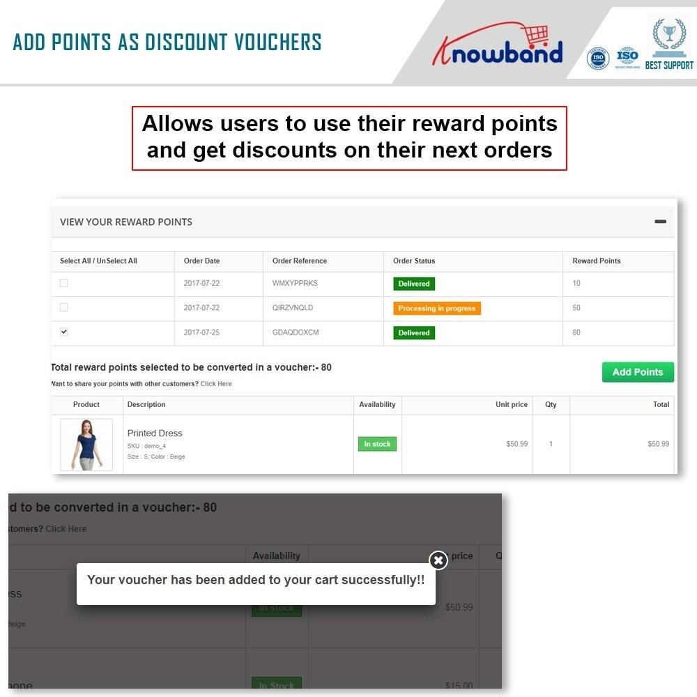 module - Lojalność & Rekomendowanie - Knowband - Reward points - 4