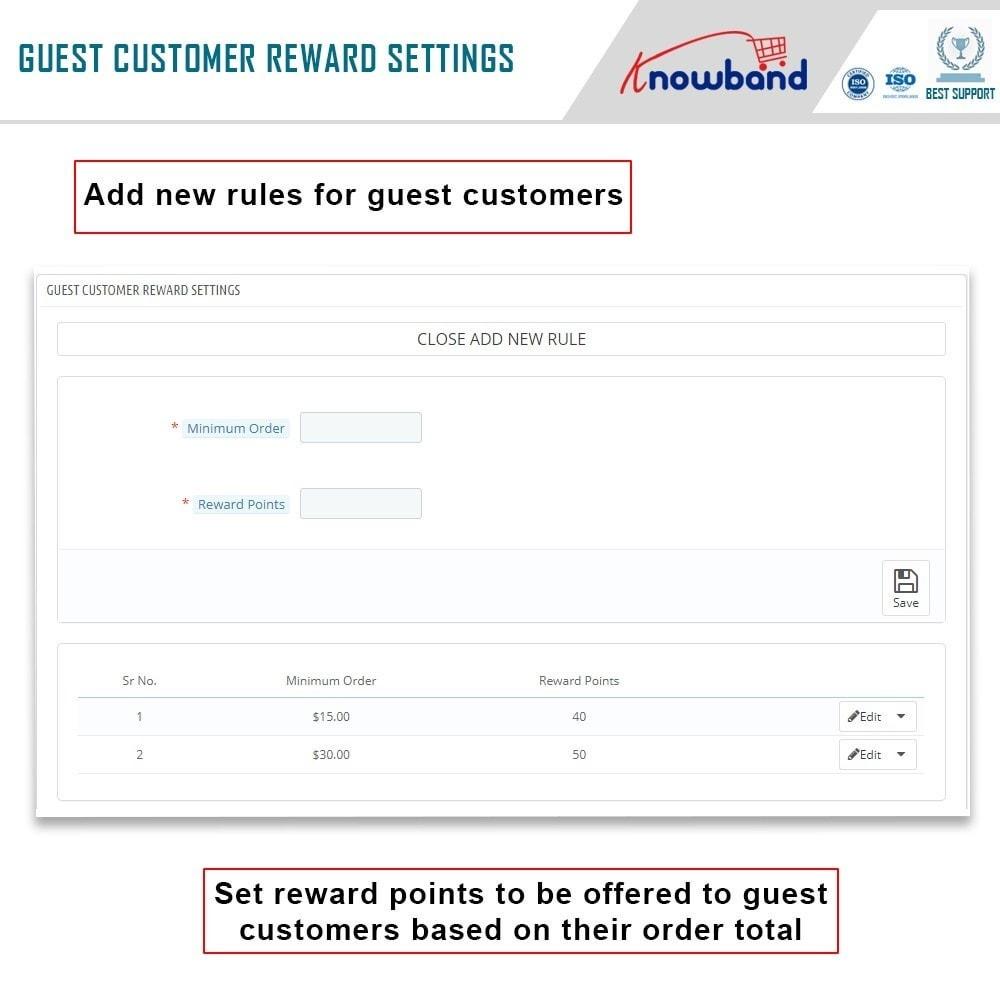 module - Loyaliteitsprogramma - Knowband - Reward points - 5