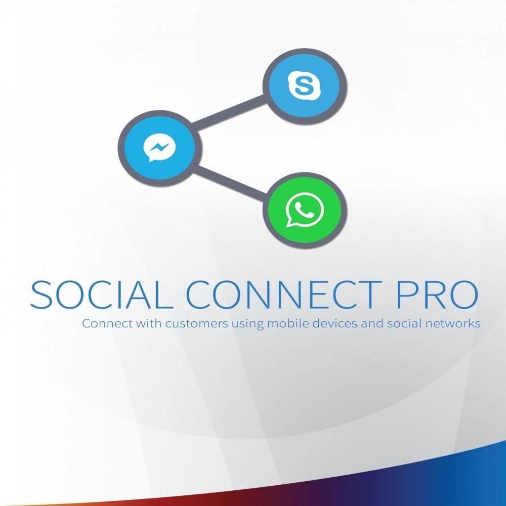 module - Supporto & Chat online - Social Connect Pro - Pulsante sociale, chiamata e SMS - 1