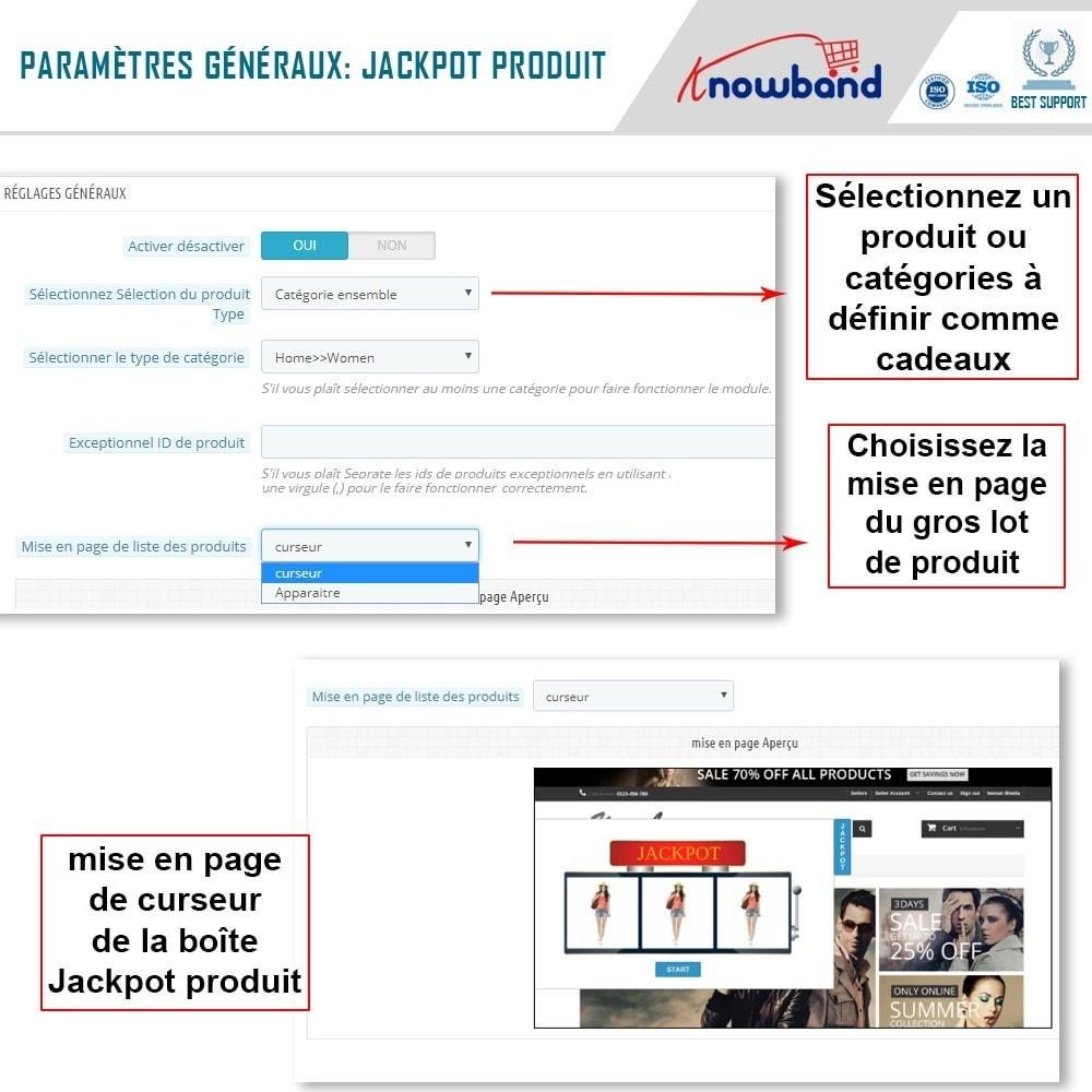 module - Promotions & Cadeaux - Knowband - Jackpot Produit - 4