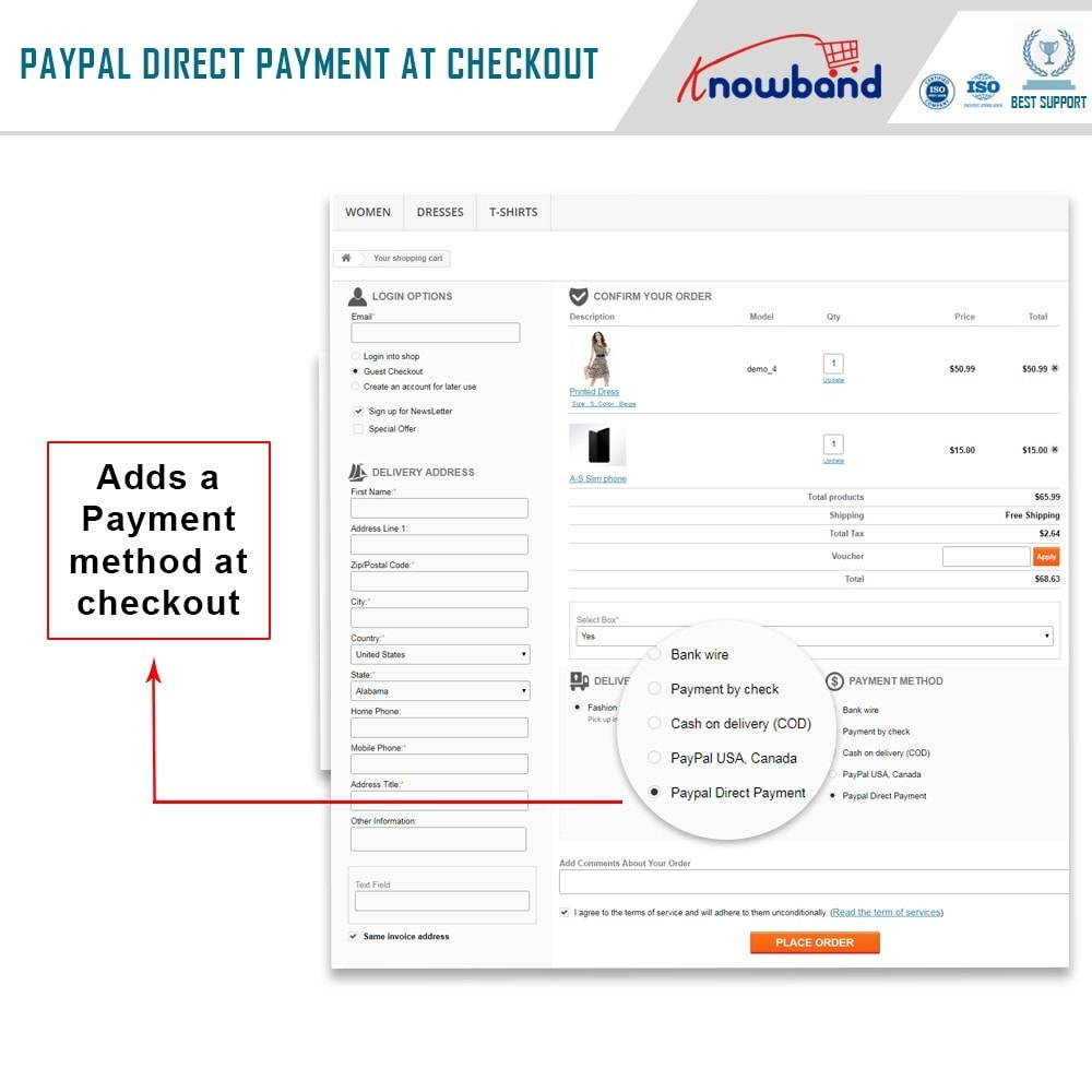 module - Payment by Card or Wallet - Knowband - Paypal Direct Payment - 3