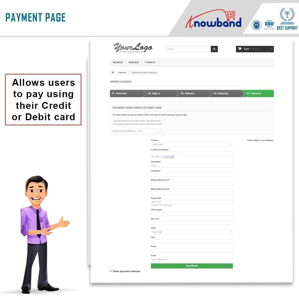 module - Payment by Card or Wallet - Knowband - Paypal Direct Payment - 4
