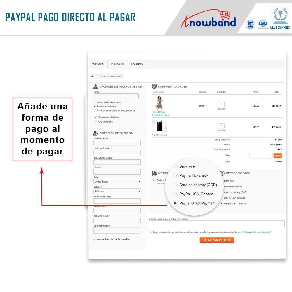 module - Pago con Tarjeta o Carteras digitales - Knowband - Pago Directo por PayPal - 3