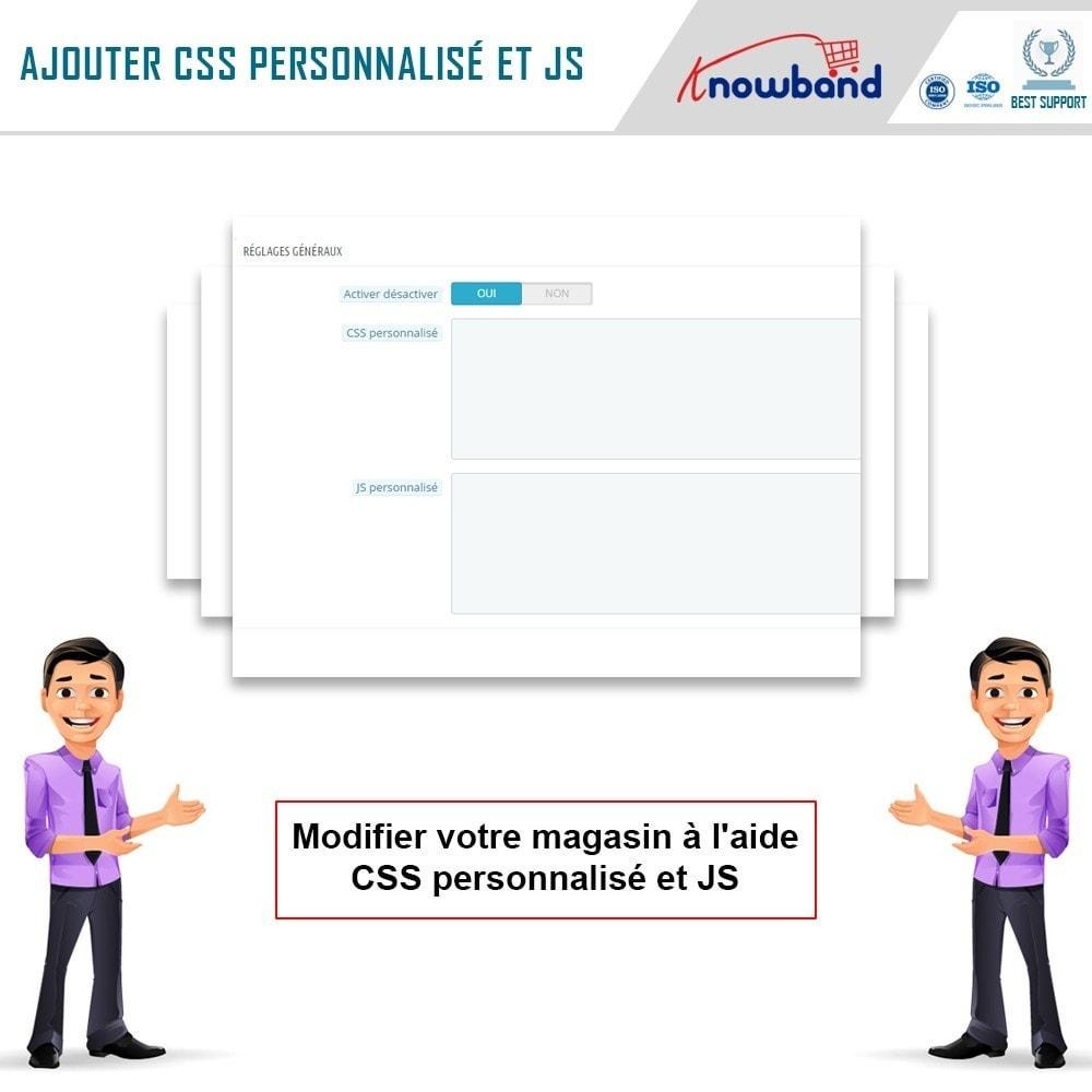 module - Personnalisation de Page - Knowband - Codes CSS et JS personnalisés - 4