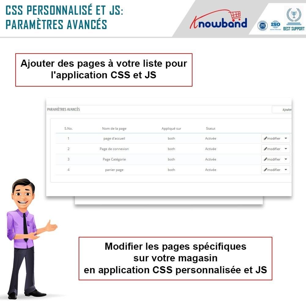 module - Personnalisation de Page - Knowband - Codes CSS et JS personnalisés - 5