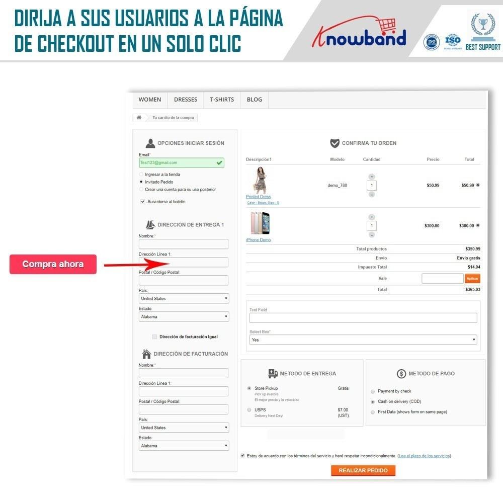 module - Proceso rápido de compra - Knowband - Pago en Un Clic - 3