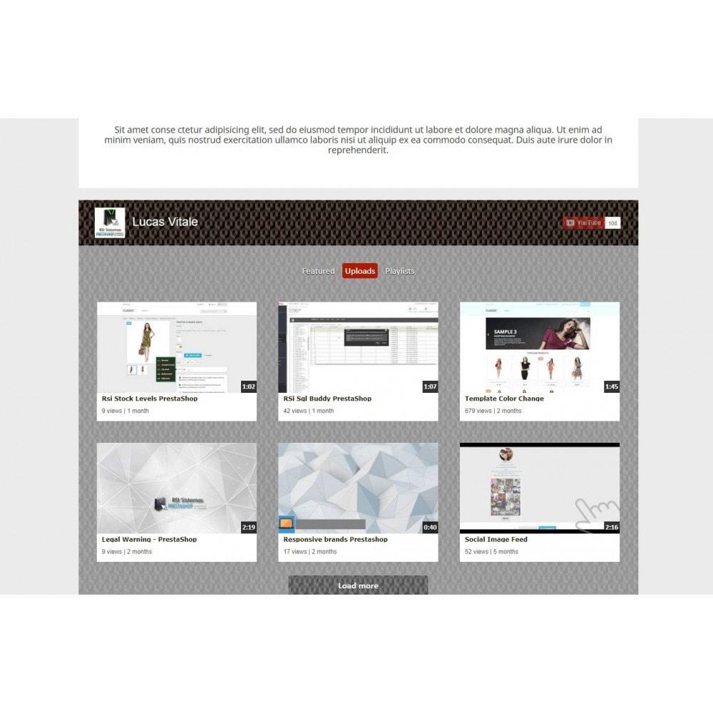 module - Widgets para redes sociales - Youtube Wall - 6