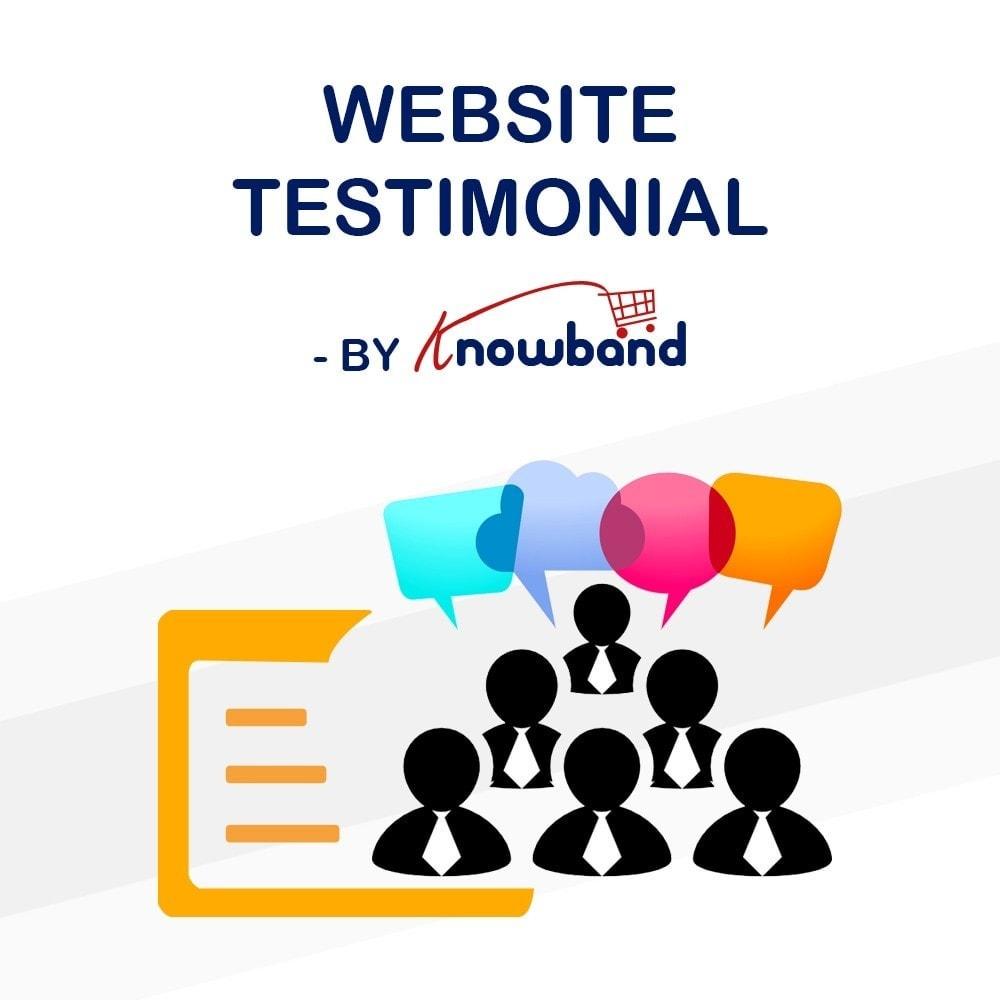 module - Customer Reviews - Knowband - Website Testimonial - 1