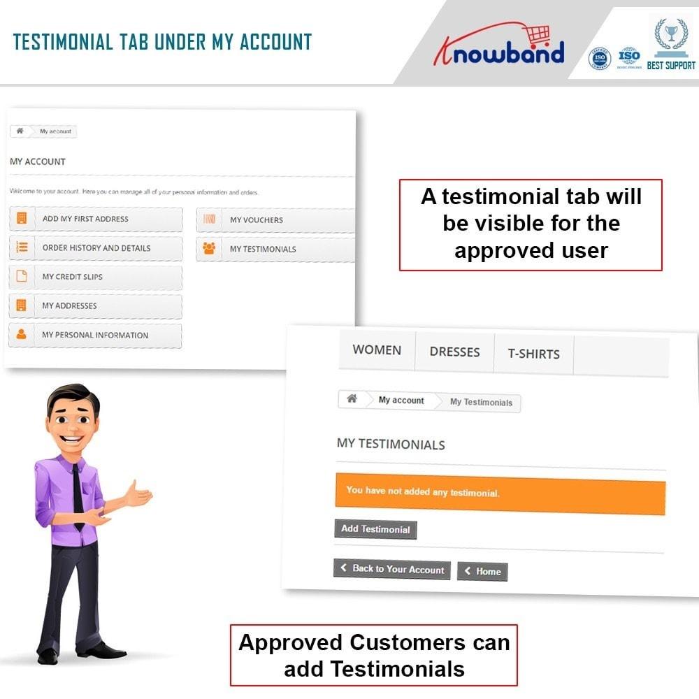 module - Recensioni clienti - Knowband - Website Testimonial - 2