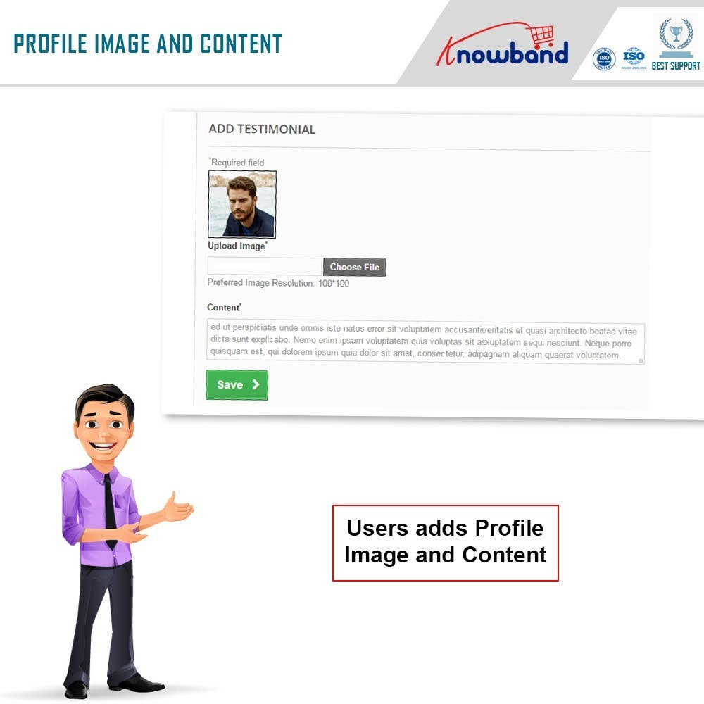 module - Recensioni clienti - Knowband - Website Testimonial - 3