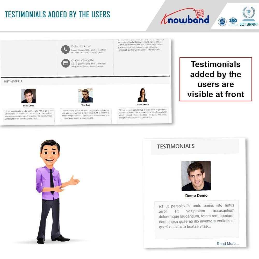 module - Customer Reviews - Knowband - Website Testimonial - 4