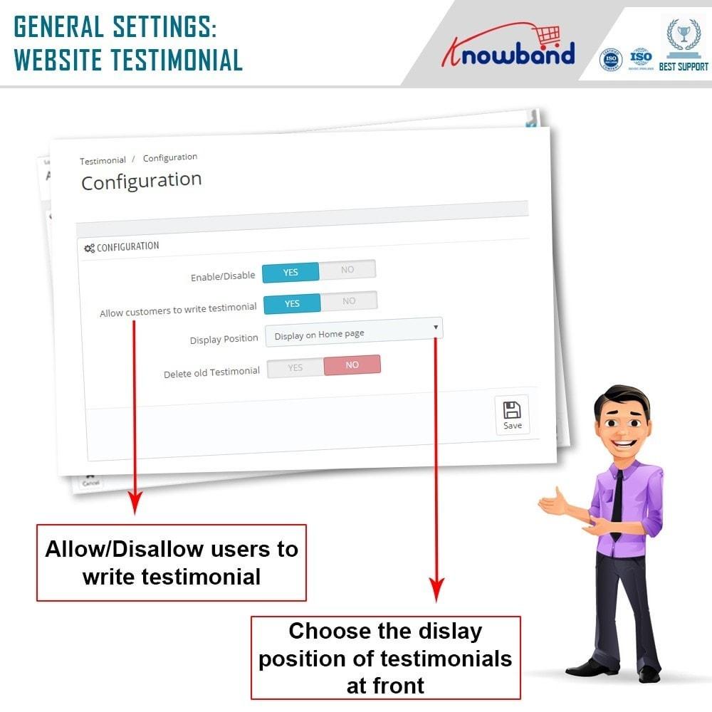module - Recensioni clienti - Knowband - Website Testimonial - 5