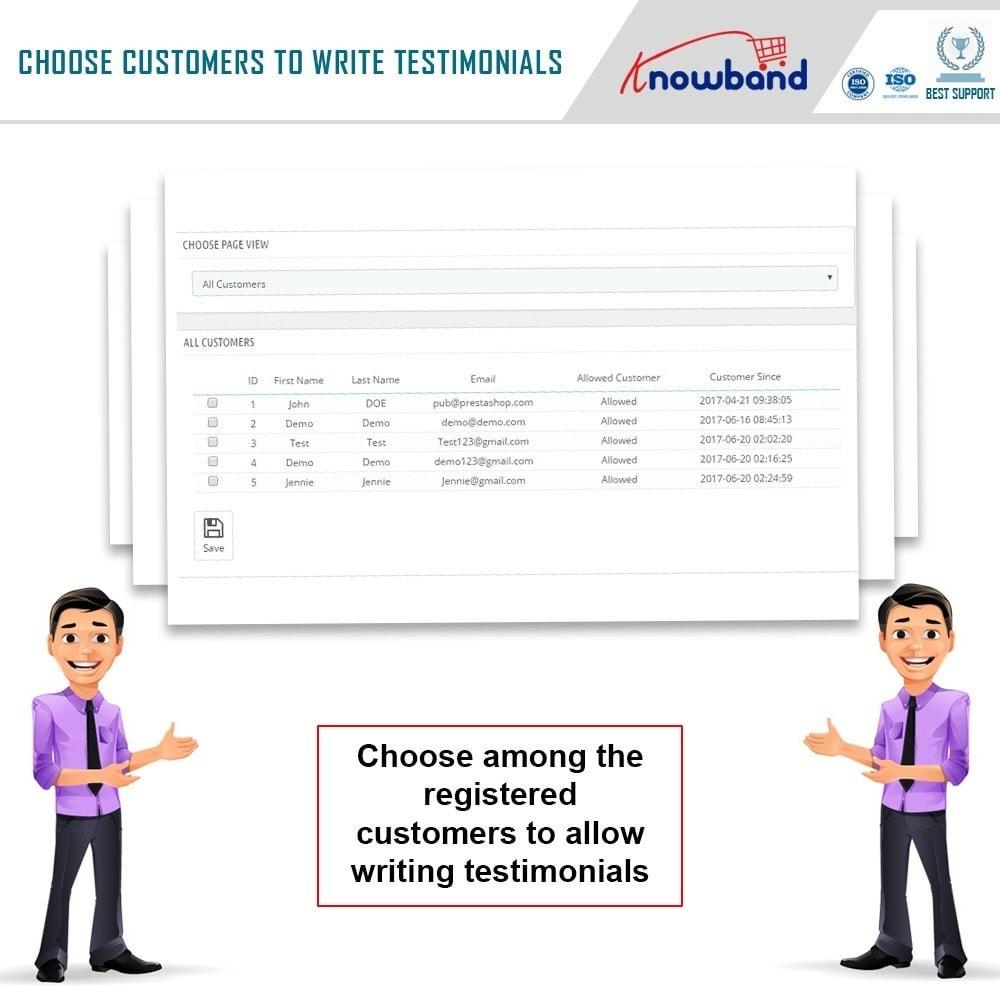 module - Recensioni clienti - Knowband - Website Testimonial - 7