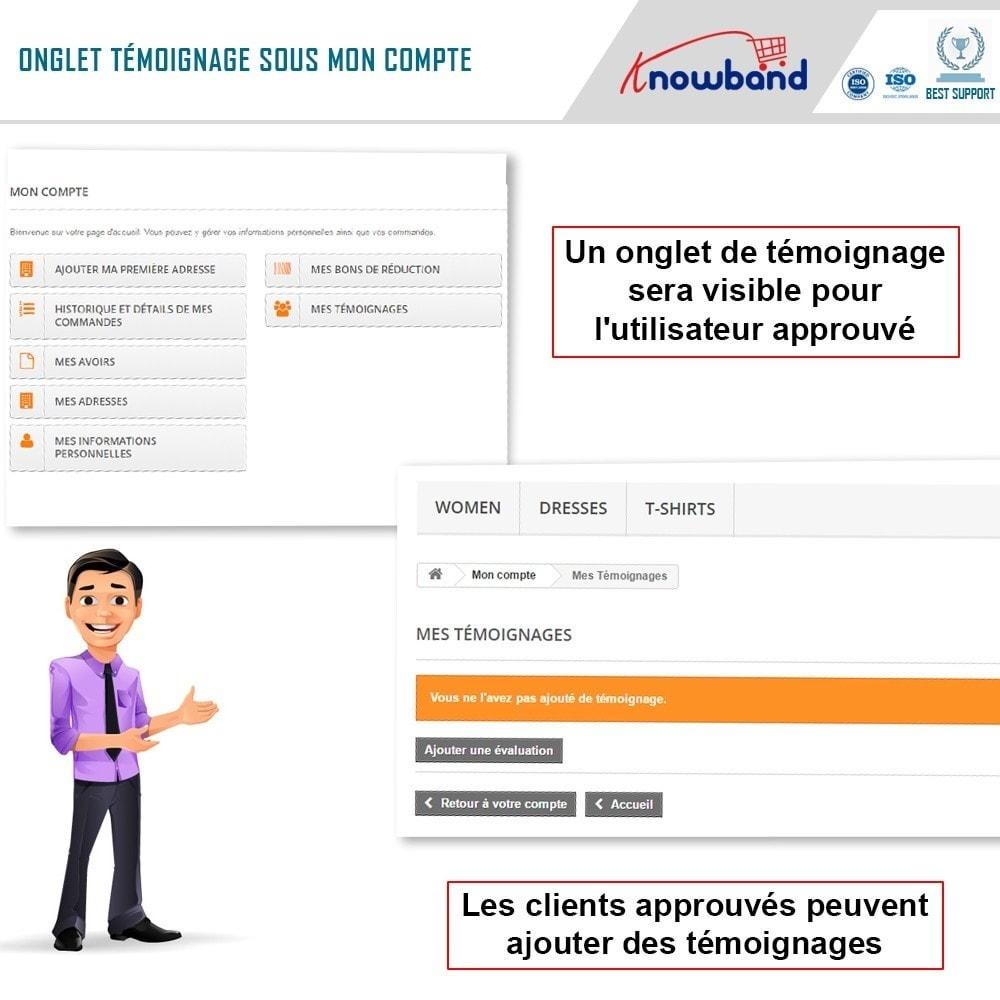 module - Avis clients - Knowband - Témognages sur le Site - 2