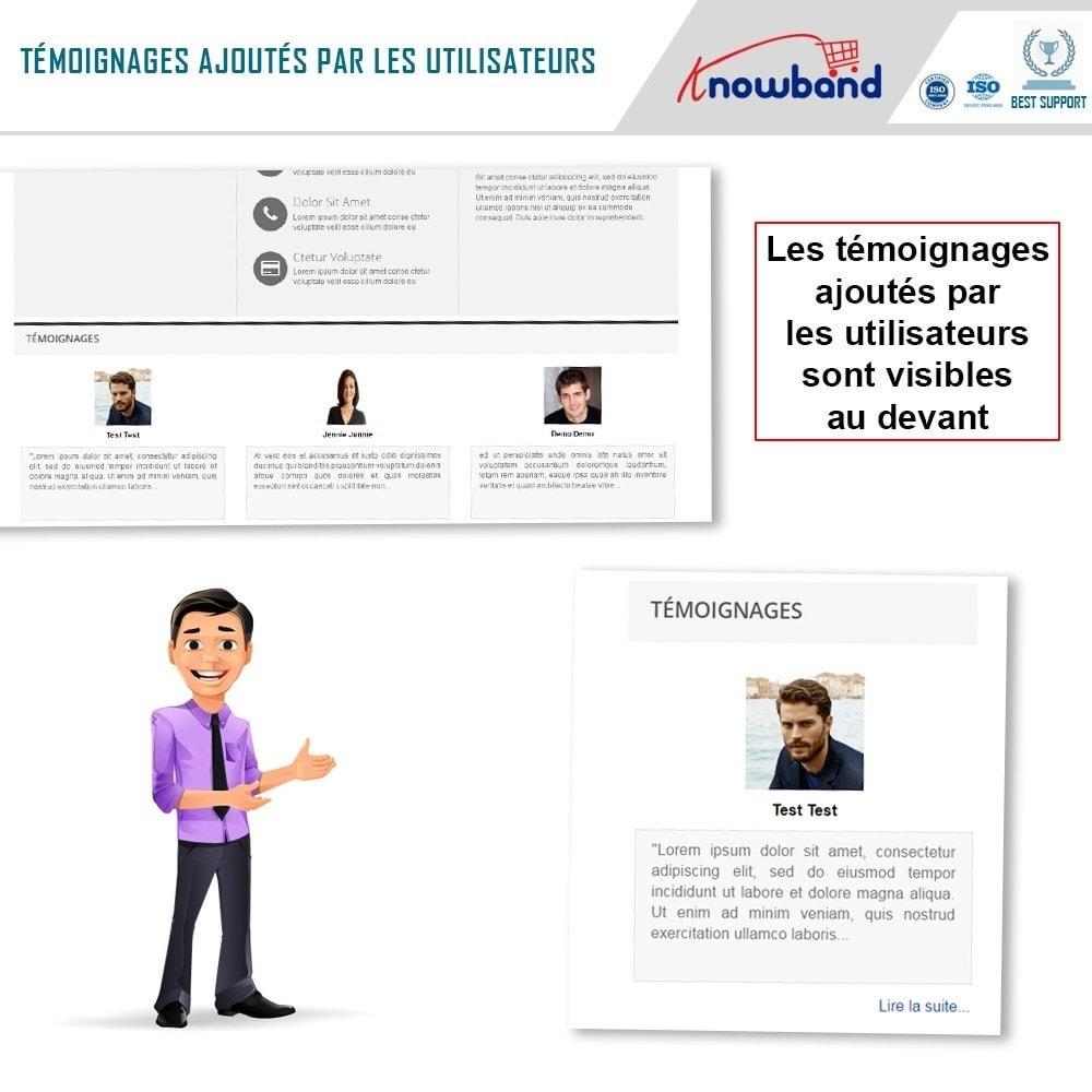 module - Avis clients - Knowband - Témognages sur le Site - 4