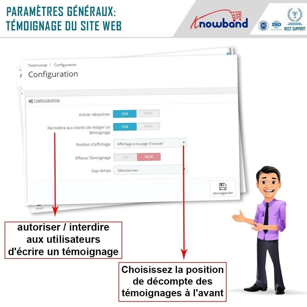 module - Avis clients - Knowband - Témognages sur le Site - 5