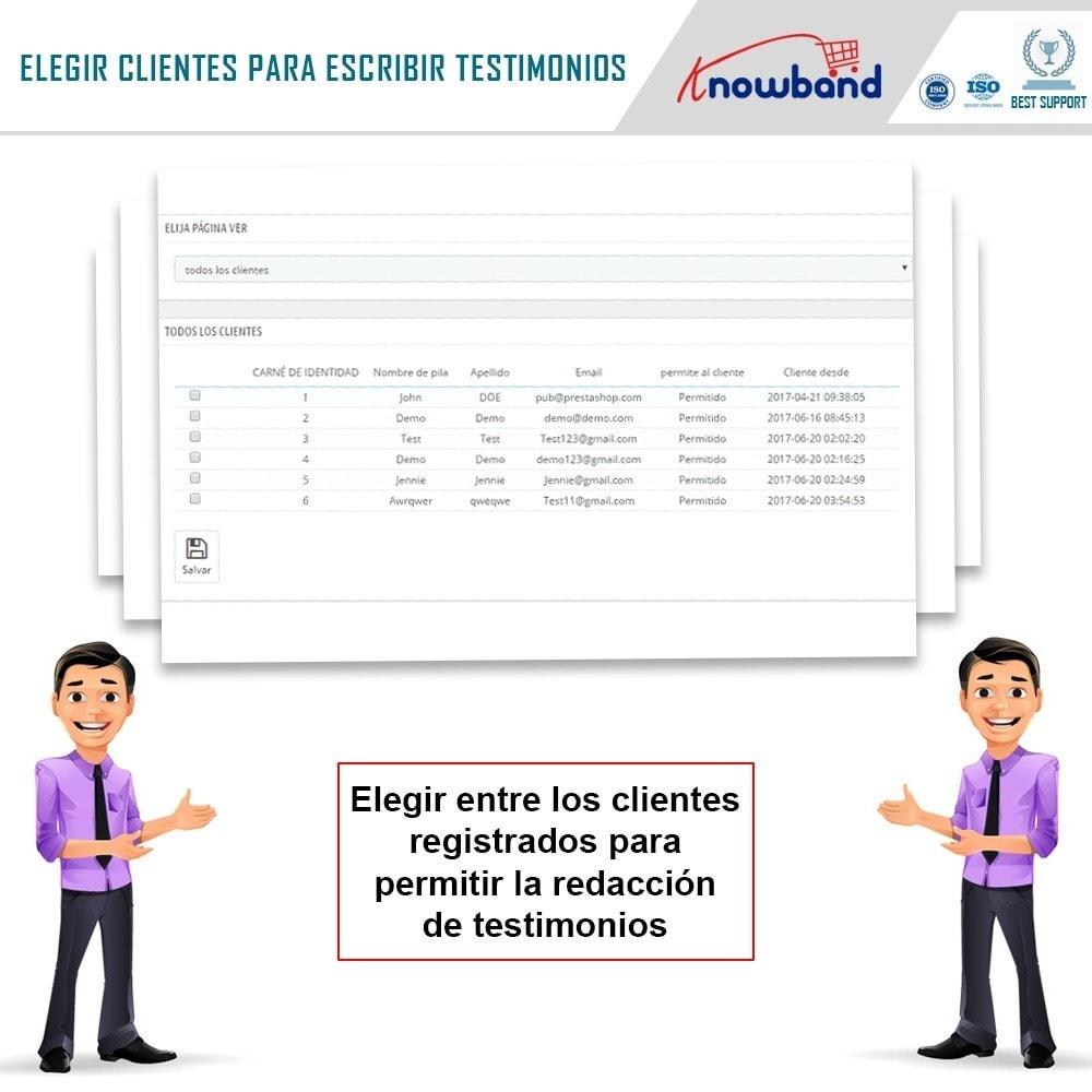 module - Comentarios de clientes - Knowband - Testimonios - 7