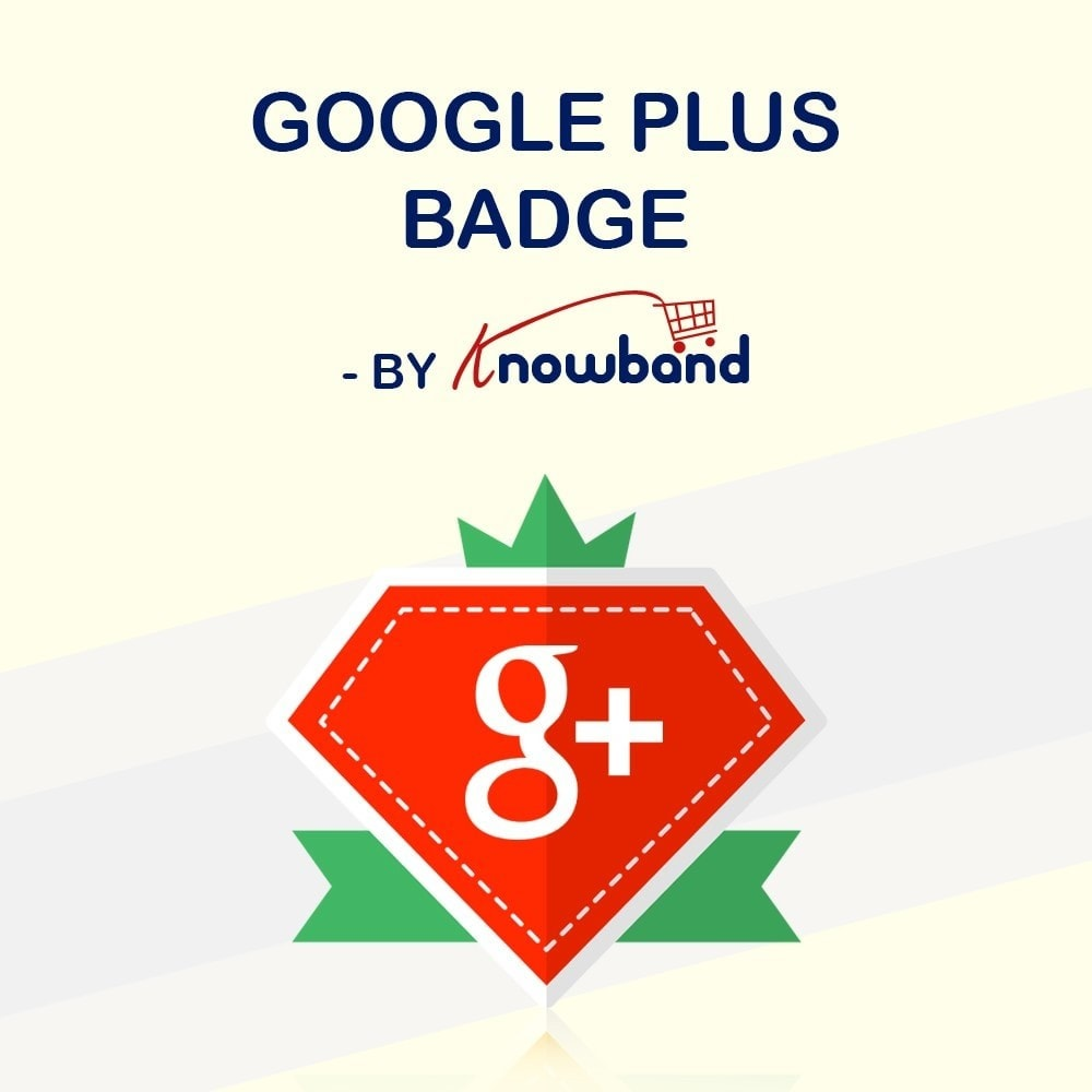 module - Widgets de Redes Sociais - Knowband - Emblema Google Plus - 1