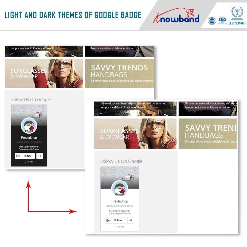 module - Widgets de Redes Sociais - Knowband - Emblema Google Plus - 3