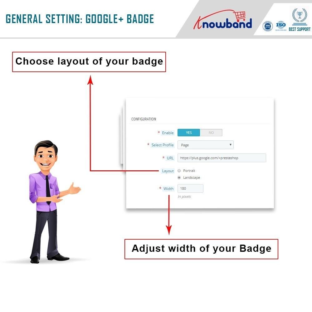 module - Widgets de Redes Sociais - Knowband - Emblema Google Plus - 5
