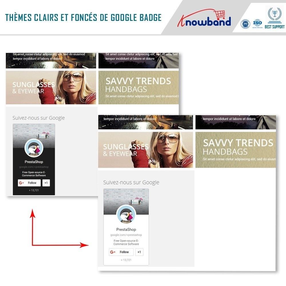module - Widgets réseaux sociaux - Knowband - Badge Google Plus - 3