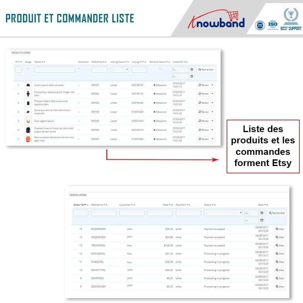 module - Marketplaces - Intégration de la Marketplace Etsy - 5