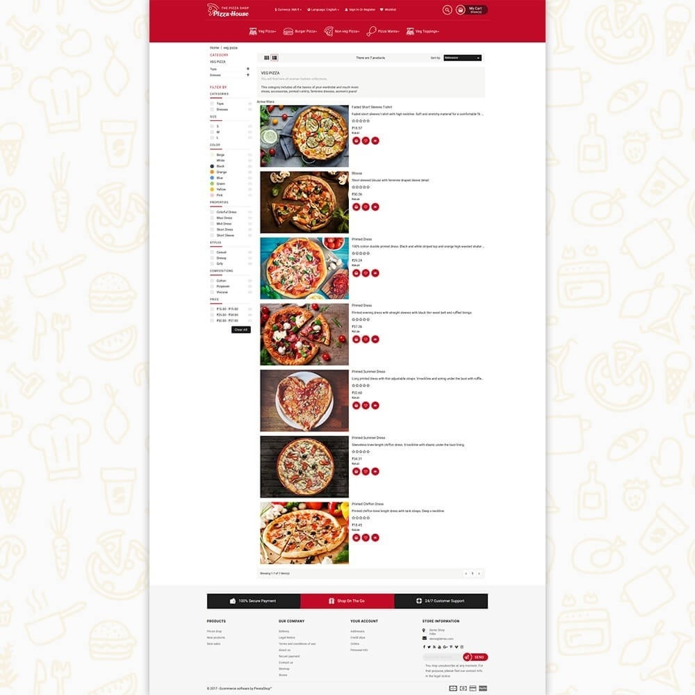 theme - Alimentation & Restauration - Pizza House Store - 4