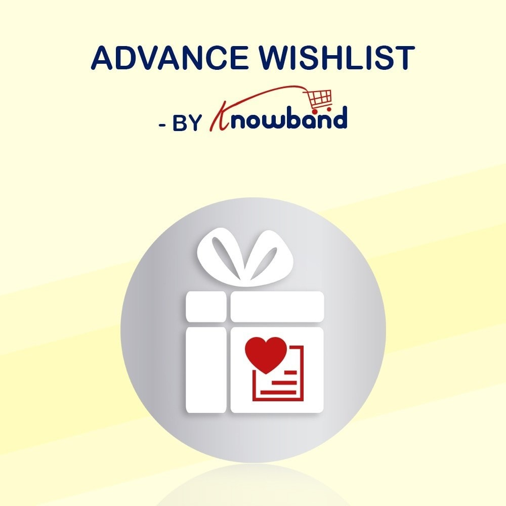 module - Whishlist & Gift Card - Knowband - Advanced wish list - 1