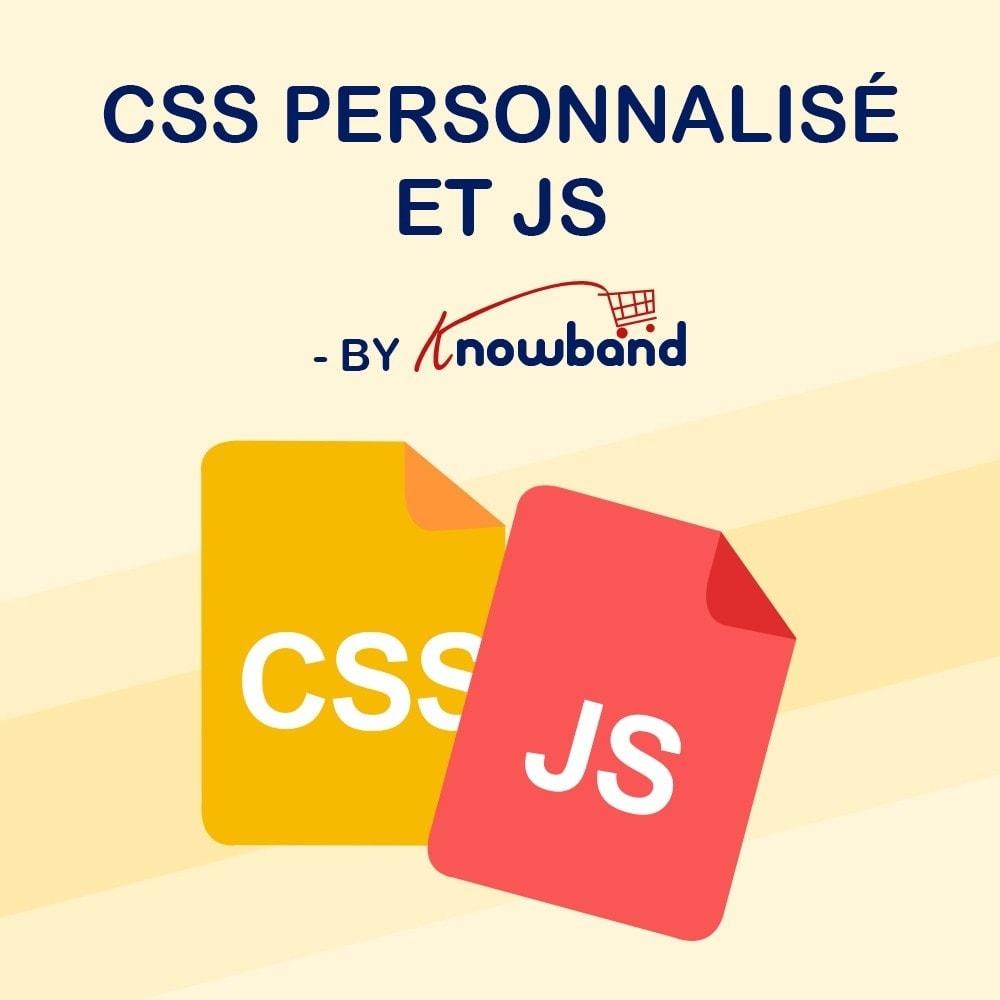 module - Personnalisation de Page - Knowband - Codes CSS et JS personnalisés - 1