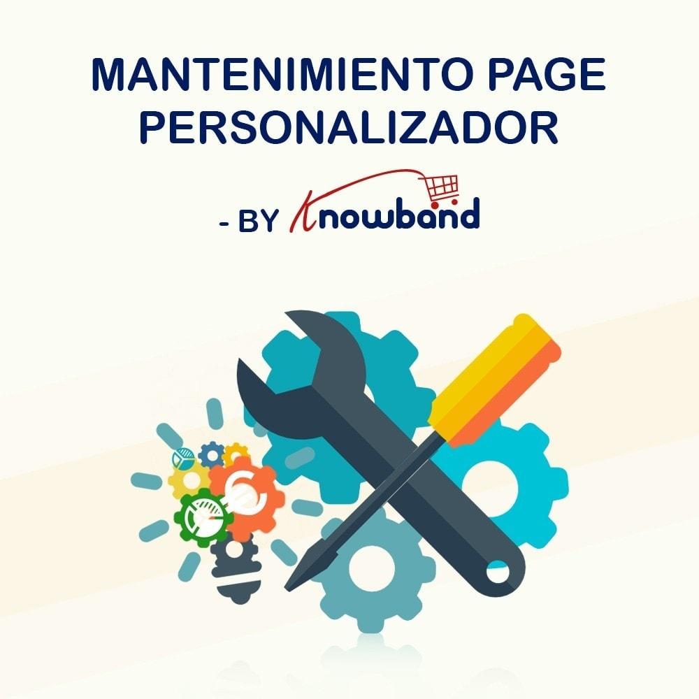 module - Personalización de la página - Knowband - Personalizador de la Página de Mantenimiento - 1