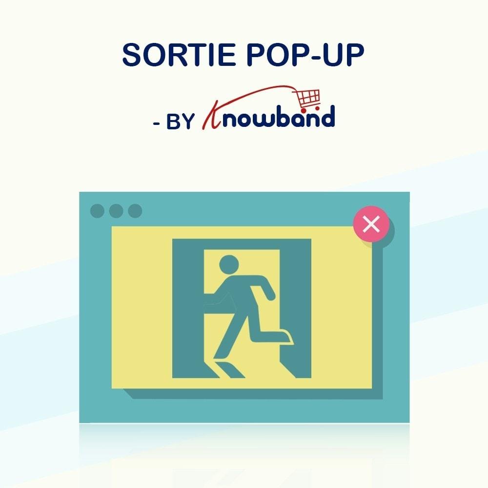 module - Remarketing & Paniers Abandonnés - Knowband - Pop-Up de Fermeture - 1