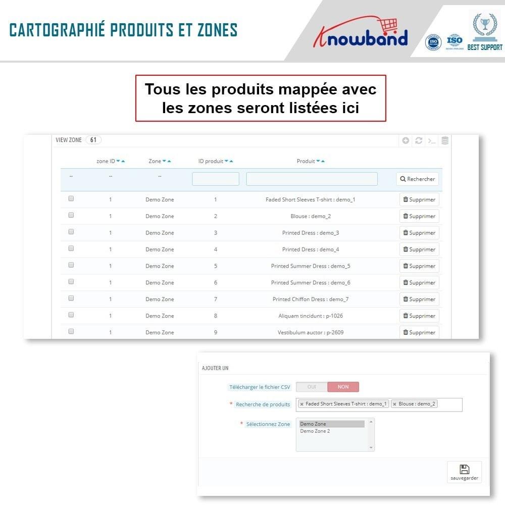 module - International & Localisation - Knowband - Disponibilité de produit par code postal - 8
