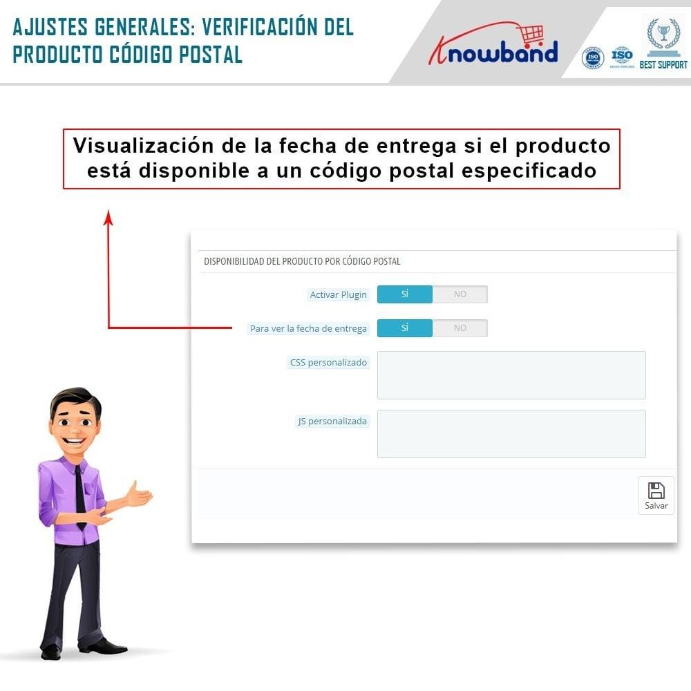 module - Internacionalización y Localización - Knowband- Disponibilidad de productos por código postal - 4
