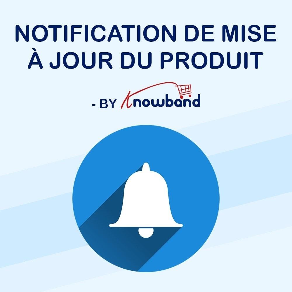 module - E-mails & Notifications - Knowband - Notification de Mise à Jour des Produits - 1