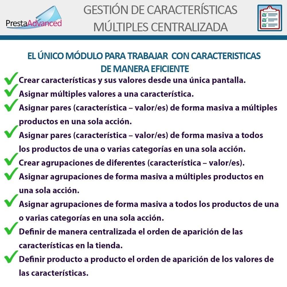 module - Edición Rápida y Masiva - Características: Gestión Avanzada Centralizada - 2