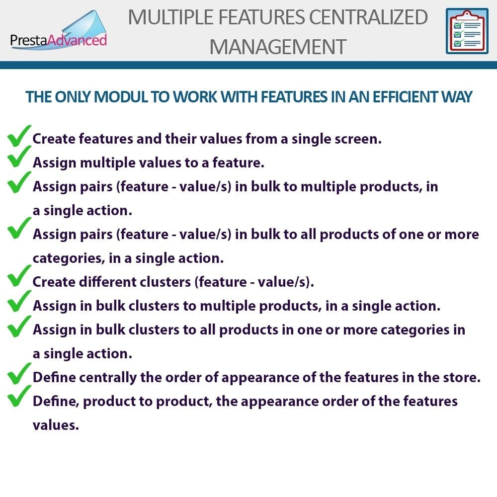 module - Fast & Mass Update - Features: Centralized Advanced Management - 2