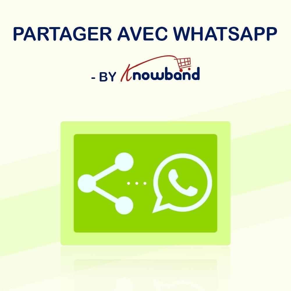 module - Boutons de Partage & Commentaires - Knowband - Partager sur WhatsApp - 1