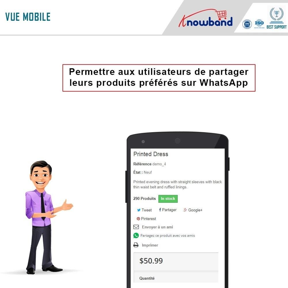 module - Boutons de Partage & Commentaires - Knowband - Partager sur WhatsApp - 2