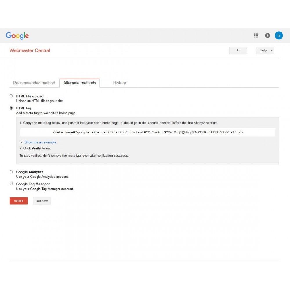 module - SEO - SEO Webmaster Tools Site Verification Search Engine - 3