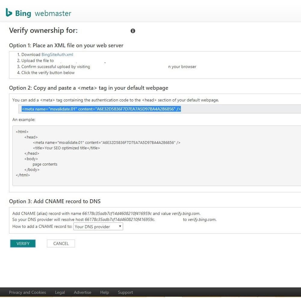 module - SEO (Referenciamento natural) - Verification Shop in Search Engine - 4