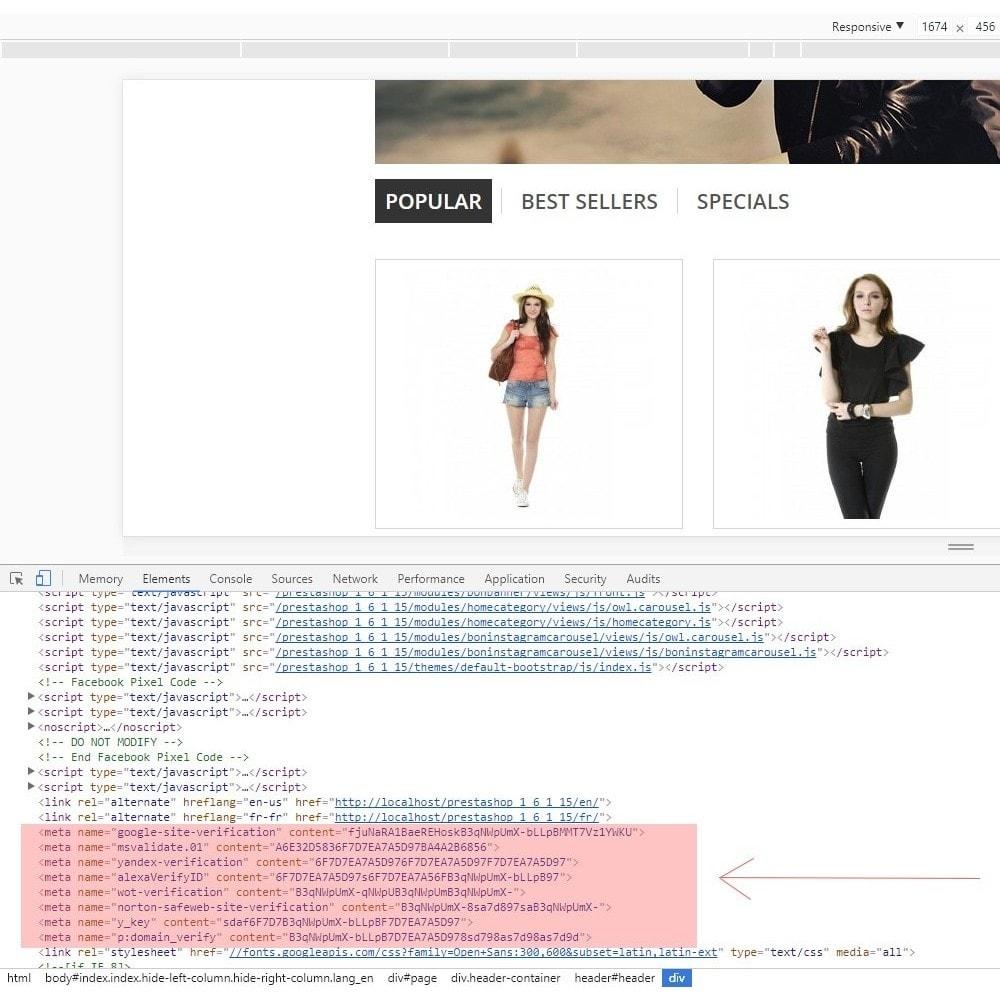 module - SEO (Pozycjonowanie naturalne) - Verification Shop in Search Engine - 6