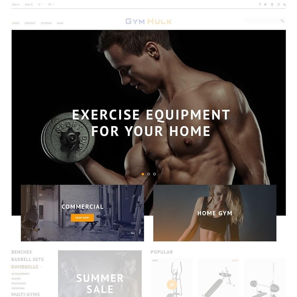 theme - Sport, Rozrywka & Podróże - GymHulk - Gym Equipment - 4
