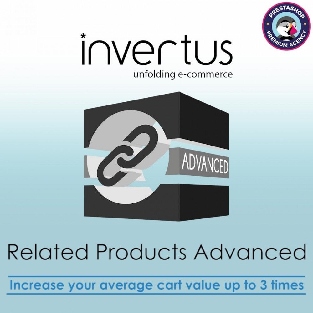 module - Vendas cruzadas & Pacotes de produtos - Related Products Advanced - upsell, linking, cross-sell - 1