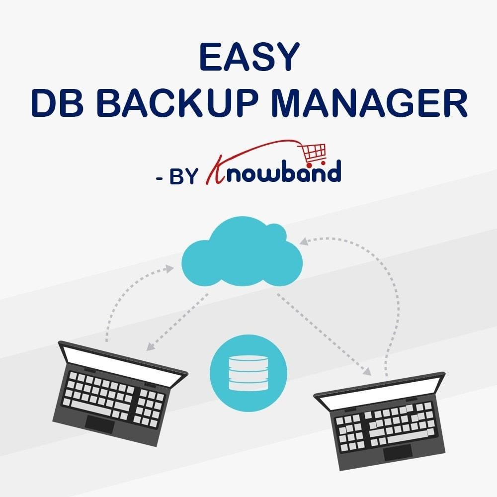 module - Migração de Dados & Registro - Knowband - EasyDB Backup Manager - 1