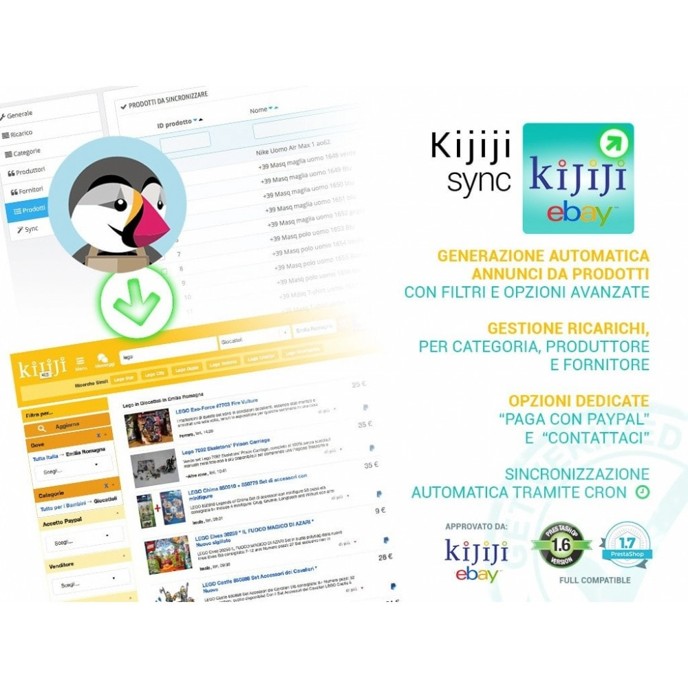 module - Marketplace - Sincronizza Prestashop con Kijiji - 1